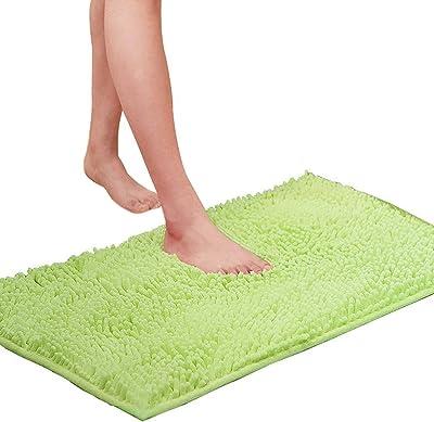 Alfombrilla de chenilla para dormitorio NewPointer f/ácil de usar alfombra de microfibra antideslizante para puerta de ba/ño cocina 30 x 50 cm sala de estar A17 color naranja