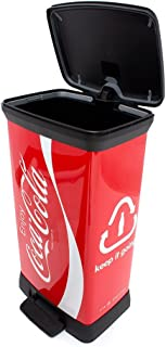 Curver 02162°C14to 07Coca Cola Deco B Metallics with Pedal Bin 50L by Curver