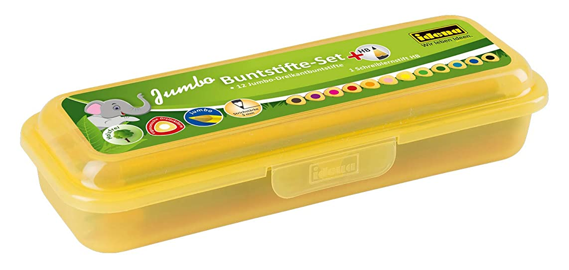 IDENA 10050?Jumbo Crayon Set with Learning to Write Pencil?–?HB