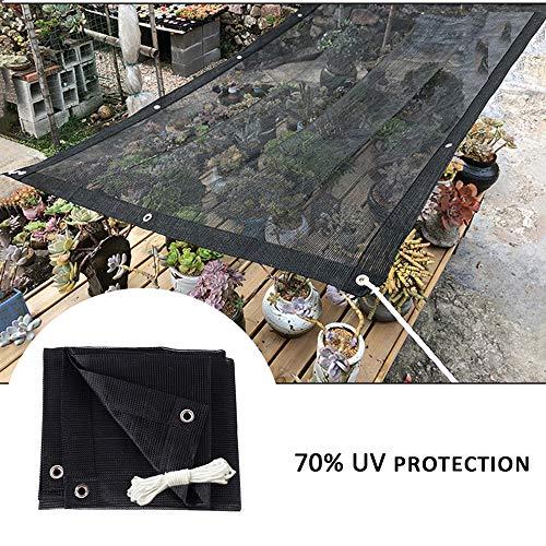 Shade net LCYXM 70% Black Shade Cloth Shade Netting Taped Edge Mit Ösen - Sonnenschutz/Atmungsaktiv - Geeignet Für Pflanzen/Blumen/Balkone/Carports