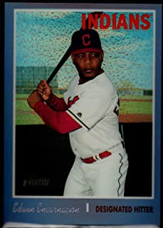 Baseball MLB 2019 Topps Heritage Chrome Refractors Purple Hot Box #THC-447 Edwin Encarnacion Indians
