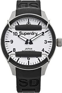 SYG124W Mens Scuba Pop Black Silicone Strap Watch