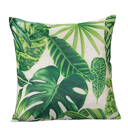 Kissenbezüge Longra Blatt und Kaktus gedruckt Hauptdekoration Kissenbezug Baumwolle Leinen Kissenbezug (B)