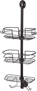 Home Zone 3-Tier Shower Caddy | Adjustable, Wire Shelf, Oil Rubbed Bronze Finish