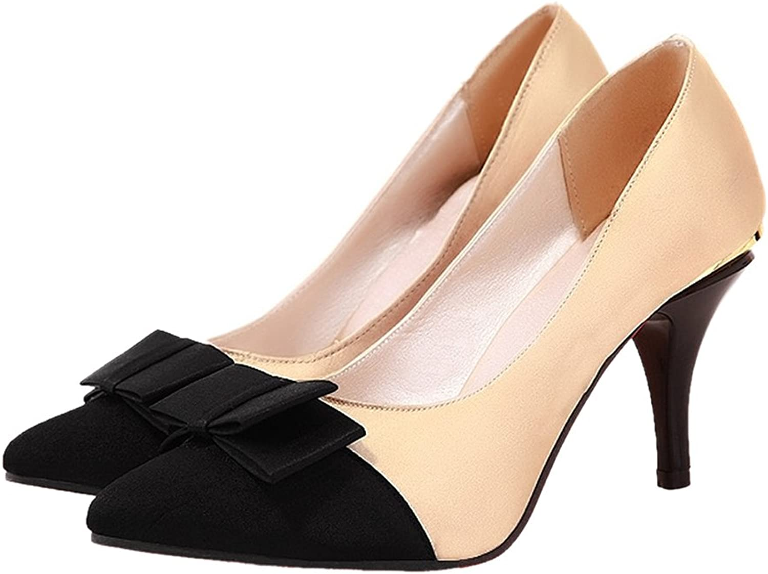 Thin Heel Pointed Chromatic color Sexy Women shoes beige 39