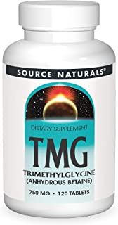 Source Naturals TMG 750mg Trimethylglycine (Anhydrous Betaine) - 120 Tablets