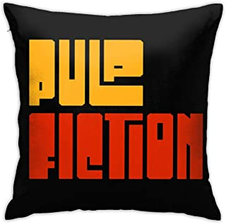 WJQHG9S Pulp Fiction Logo Throw Pillow Covers -Square Pillowcases Home Decorative for Sofa Bedroom Car 18 X 18 Inch