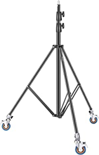 Neewer 8.5ft/2.6m Heavy-Duty Light Stand with Casters, Adjustable Aluminum Alloy Tripod Stand, Photography Wheeled Base St...