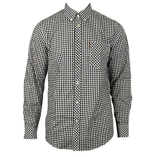 Photo of Ben Sherman Long Sleeve Shirt House Check Button Down Collar (MA00576) Black/White (X-Large)