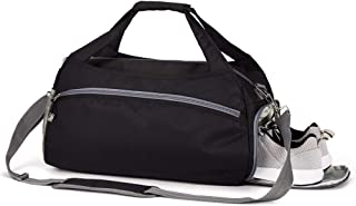 Sports Gym Bag with Shoes Compartment &Badminton Racket Bag,Waterproof Travel Duffel Bag for Men and Women
