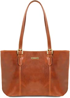 Tuscany Leather Annalisa Borsa shopping in pelle con due manici