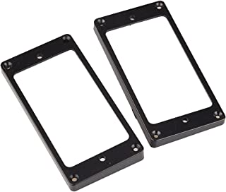 2 pcs Flat Humbucker Pickup Ring For LP / SG Guitar ETC Black