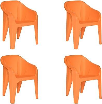 Supreme Futura Plastic Chair (Orange)(Set of 4)