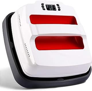 TUSY Heat Press Machine 9 X 9 Inches - Portable Multi-Function Digital Temperature Control Heat Transfer Sublimation Heat Press with Heat Press Mat and Teflon Sheet