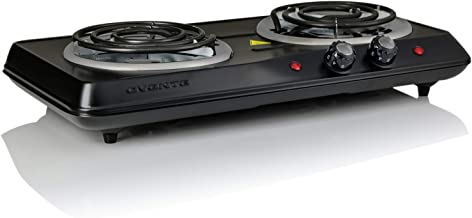 OVENTE BGC102B Electric Double Coil Burner, 1700W (120V), 6