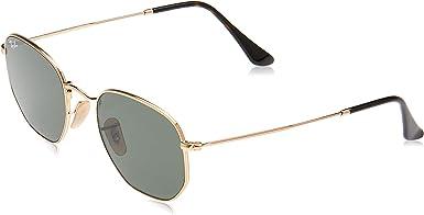 Ray-Ban Rb3548n Gafas de sol hexagonales con lente plana para mujer