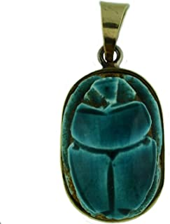 Egyptian Jewelry Scarab Stone Pendant