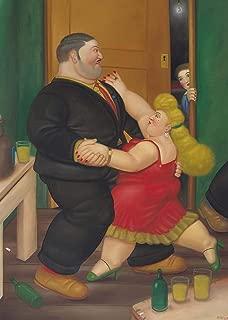 Fernando Botero - Dancing Couple, Size 24x32 inch, Canvas Art Print Wall décor