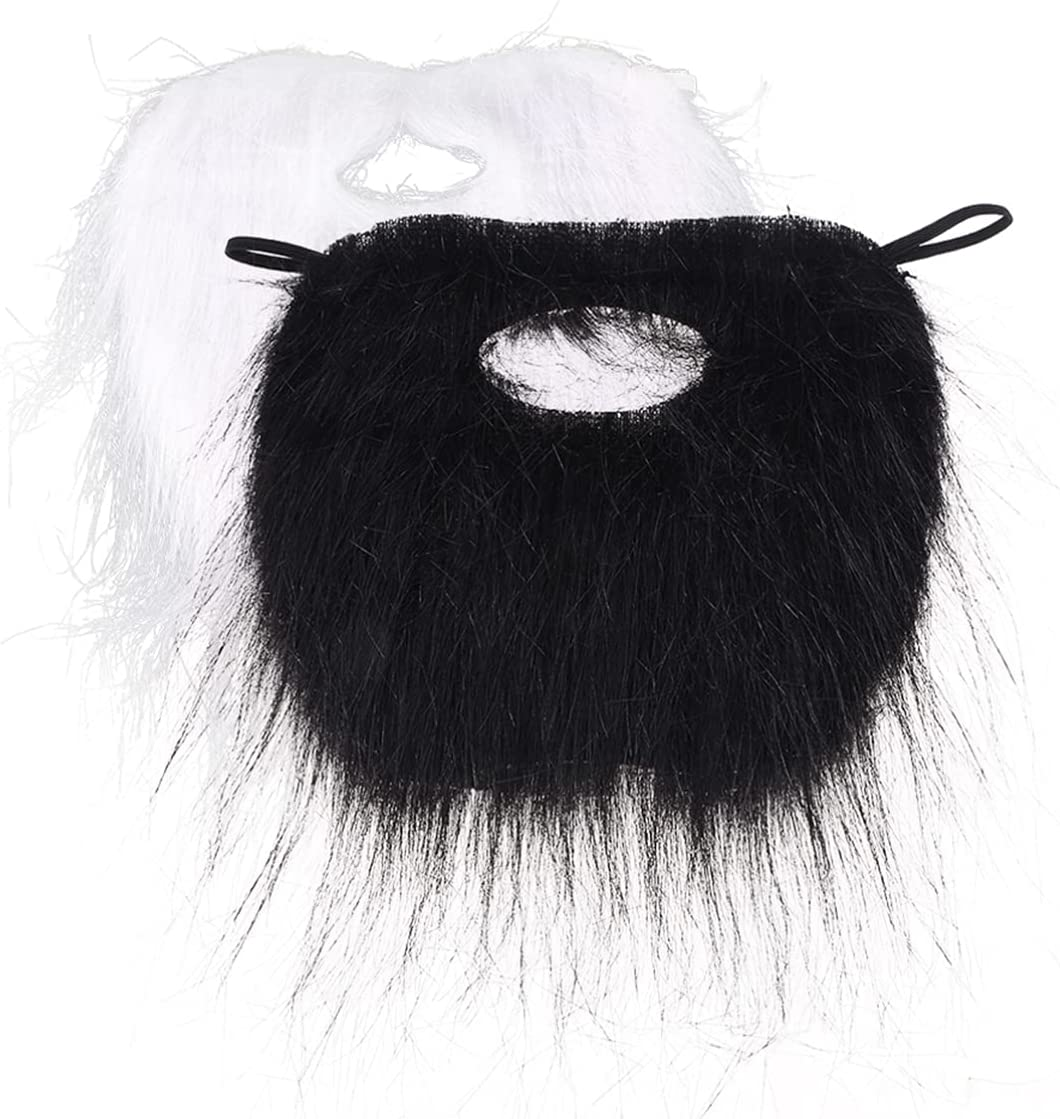 NOLITOY 2pcs Fake Beards Funny Ranking Large special price !! TOP5 Halloween Whis Mustache