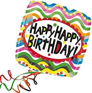 "Anagram International Hx Jmb Birthday Squiggles Balloon, 28"", Multicolor"
