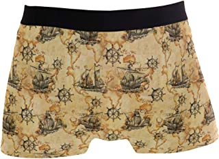 UWSG Men's No Ride Up Boxer Brief African Motifs