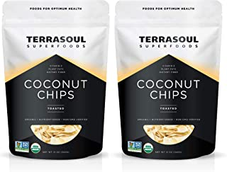 Terrasoul Superfoods Organic Toasted Coconut Chips, 1.5 Lbs - Unsweetened | Unsalted | Perfectly Toasted Flakes