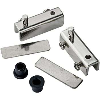 Clip Glass Hinge for Cabinet Glass Door Glass Showcase Glass Wine Cabinet Cupboard Door Wall Mounted Zinc Alloy Brushed Finished Set of 4 NUZAMAS 90 Degree Glass Clamps Adjustable 5-8mm