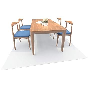 床を保護するダイニングマット クリア フローリングや畳のキズ防止に 食べこぼし キッチン 透明 PVC フローリングシート 食卓 料理 テーブル 撥水 カット可能 180*200cm (180*200cm, 透明 厚さ1.5mm)