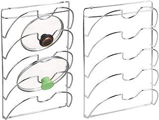 mDesign Porte Couvercle Vertical (Lot de 2) – Support ustensiles Cuisine Pratique pour couvercles de Casserole et poêle – ...