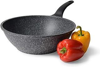 ProCook Granite - Sauteuse bombée antiadhésive effet pierre compatible tous feux dont induction