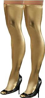 Legou Women's Shiny Metallic Skintight Thigh High Stockings