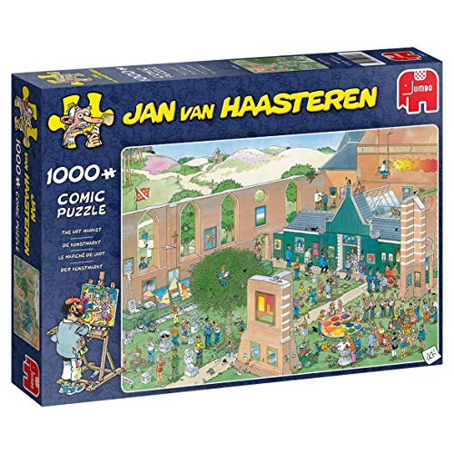 Jumbo Art Market Piece Jigsaw Puzzle Jan Van Haasteren-Mercado de Arte 1000 Piezas Rompecabezas, Multicolor (J20022)