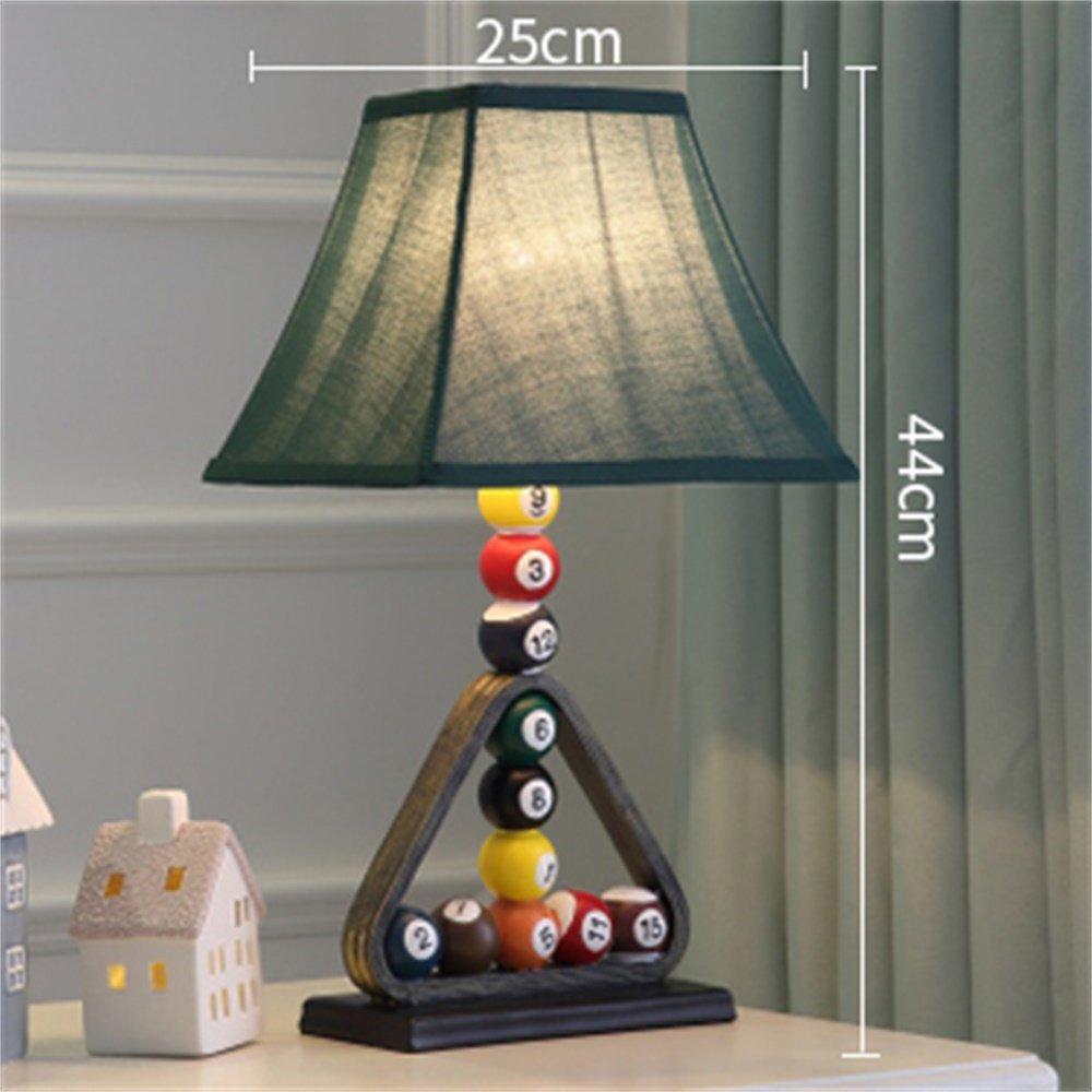 Sala de niños de Dibujos Animados Billiard lámpara de Mesa Dormitorio lámpara de cabecera Moda Creativa Linda Chica de niño cálido lámpara de Mesa Decorativos: Amazon.es: Hogar