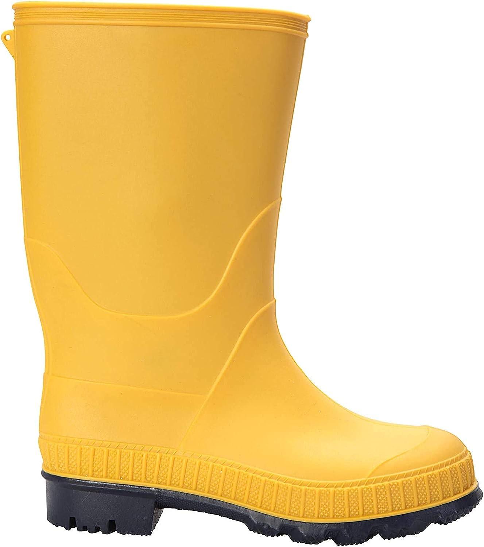 Mountain Warehouse Plain Kids Rain Boots - Durable Shoes for School