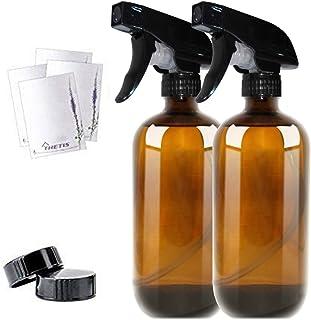 THETIS Botellas de Spray vacías de ámbar Boston de 455ml (