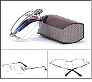 Comfortable Smart Reading Glasses Male Anti-blu-ray High-Definition Elderly Old Light Glasses with Degrees to See Beautiful (Color : Silver, Size : +3.0)
