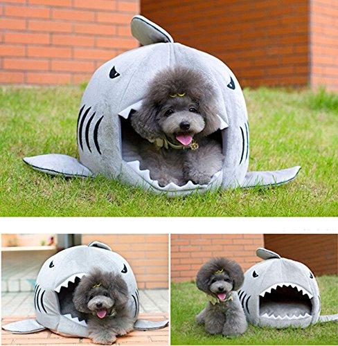 niceEshop(TM) Hai Form Haustier Hund Katze Nest mit Unterlage - 5