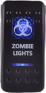 ESUPPORT Car Blue LED Zombie Light Rocker Toggle Switch ON OFF 12V 20A, 24V 10A
