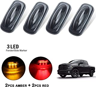 Bodbii Replacement For 2009-2017 Dodge Ram 1500 2500 3500 Rear 3rd Tail Brake LED Light Cargo Lamp 55372082AE 55372082AF