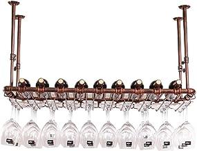 HTTJJ Wine Rack for Wall Mounting   Metal Wall-Mounted Wine Rackr   Cup Holder Shelf   Stemware Racks   Hanging Wine Glass...