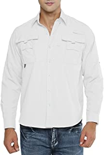 Men's Long Sleeve Fishing Shirts, Sun Protection Breathable Quick Dry Casual for Work Travel Sailing