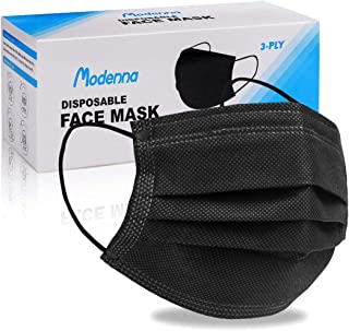 Modenna Disposable Face Mask Black 50Pcs