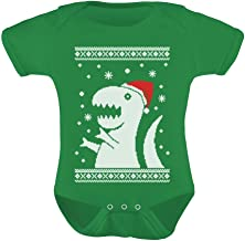 Big Trex Santa Ugly Christmas Sweater Baby Grow Vest Baby Bodysuit