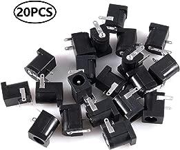 AiTrip 20pcs 5.5mm x 2.1mm 3 Pin DC Power Connector PCB Mount Female Plug Jack