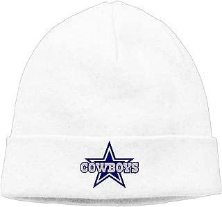 ElishaJ Unisex Dallas Sport Football Logo Beanie Cap Hat Ski Hat Cap Skull Cap Black