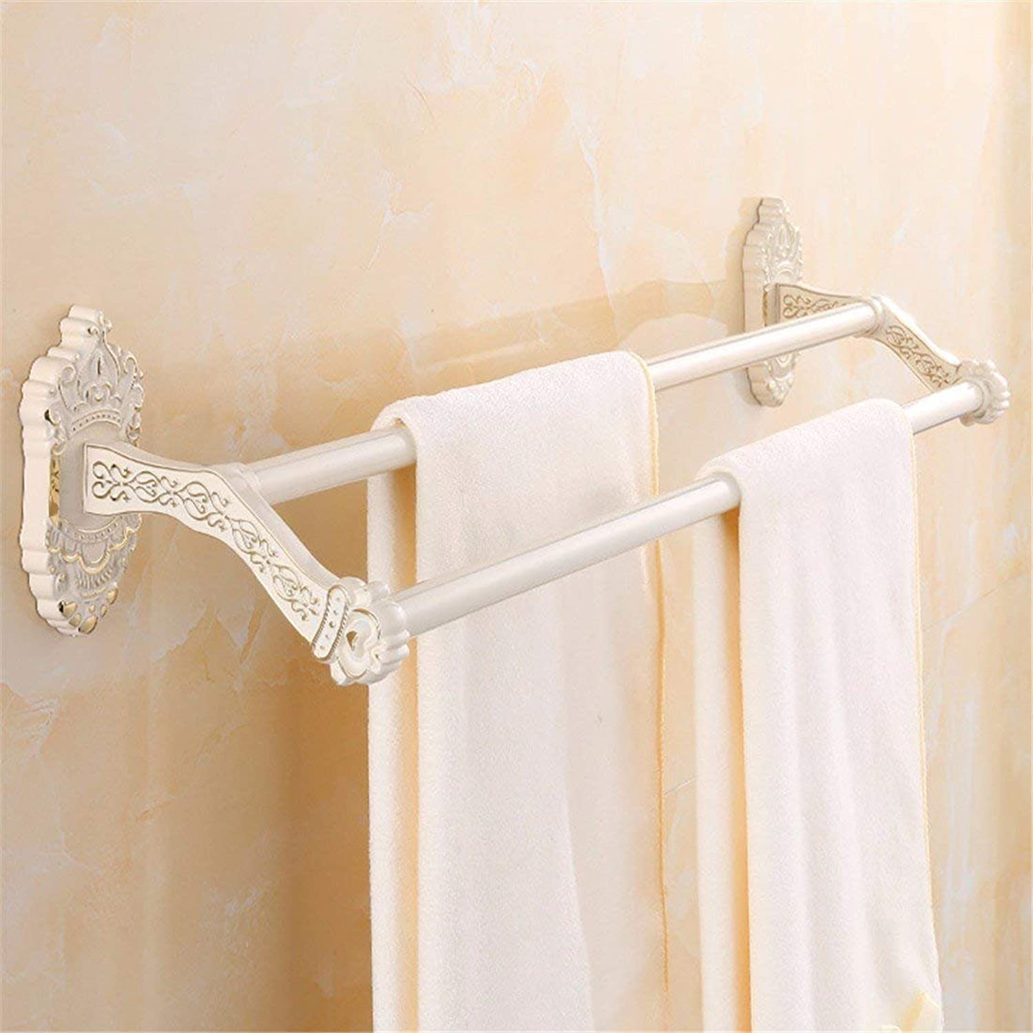 European Retro gold and White Costume Accessories of Baths Dry-Towels,Pole Folding Double