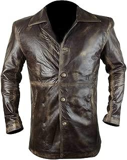 KAAZEE Supernatural Distressed Leather Brown Coat/Jacket