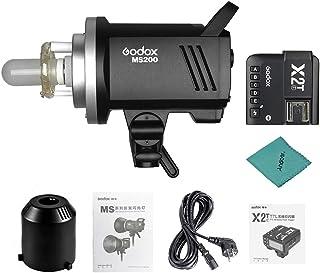 Godox MS200 Studio Flash Strobe 200Ws GN53 5600K Sistema X inalámbrico 2.4G Incorporado 0.1-1.8s Tiempo de Reciclaje con l...