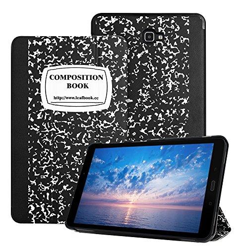 Leafbook 2016 Samsung Tab A 10.1 Case -Samsung 10.1 Tablet Case, Slim Lightweight Smart Shell Samsung t580 Case for Samsung Galaxy Tab A 10.1 Case (SM-T580 / SM-T585), Composition Book