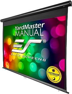 Elite Screens Yard Master Manual, 100-inch Indoor Outdoor Rain Water Protection Projector Screen 16:9, 8K 4K Ultra HD 3D M...